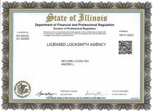 Agency License Expire 2023.