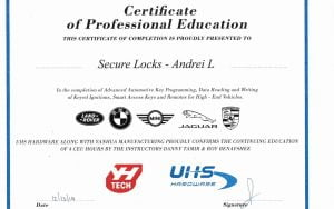 Certificate UHS ACDP.